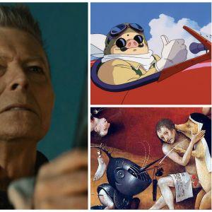 David Bowie, Porco Rosso, Hieronymus Bosch, Amy Winehouse: Teemalauantaiden ohjelmistoa keväällä 2017.