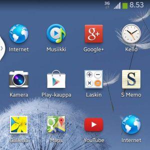 Screenshot Android-puhelimesta