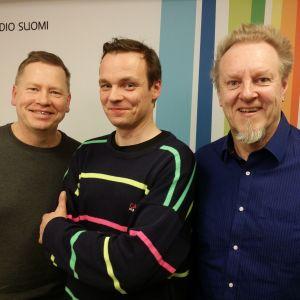 Lasse Wikman, Ville Leinonen ja Josper Knutas Levylautakunnassa