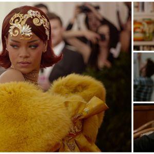 Rihanna, Anna Wintour, Andrew Bolton ja Wong Kar-wai. Kuvakaappauksia dokumenttielokuvasta Toukokuun ensimmäinen maanantai (2016).un