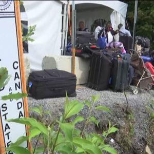 Flyktingar som vandrar från USA till Kanada.