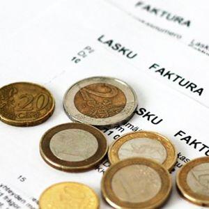 Euroslantar på en räkning.