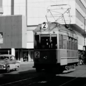Raitiovaunu Turussa 1960-luvulla.