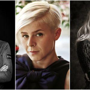 Bildkollage som visar Eva Dahlgren, Robyn och Zara Larsson