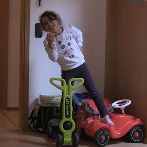 Syrisk familj trivs på sin nya hemort i Tyskland.