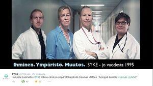 Suomen ympäristökeskuksen twiitti
