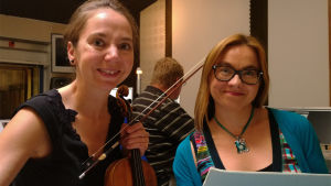 Viulisti Annemarie Åström ja pianisti Sonja Fräki