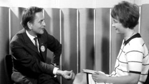 Olof Palme intervjuas av Astrid Gartz