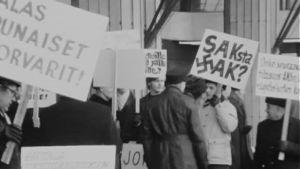 Stalinistien järjestämä mielenosoitus v. 1970