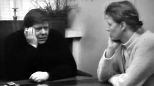 Gunnar och Stina Bergström diskuterar