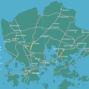 Cykelvägar i Helsingfors