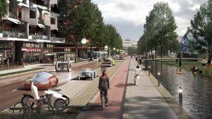 Stadsplaneringskontorets plan för Tavastehusleden