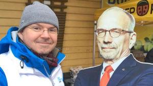 Andreas Elfving tillsammans med Nils Torvalds i kartong.
