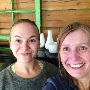 selfie på Ulrika Lillsunde och Tiina Grönroos