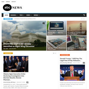 Kuvakaappaus abcnews.com.co -sivustolta.