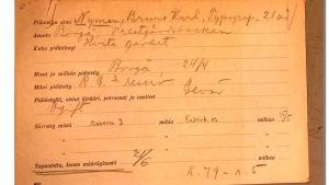 Bruno Nymans fångkort från fånglägret på Sveaborg.