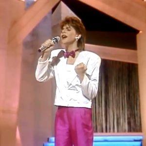 Belgiska Sandra Kim tog hem vinsten i Eurovisionen år 1986.