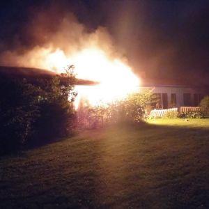 Eldsvåda i radhus i Korpo
