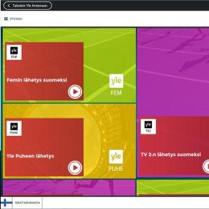 Skärmdump av Rio Areena -appen.