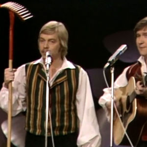 Finntrio esiintyy euroviisukarsinnassa 1977