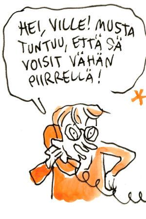 Iiro Rantala Ville Rannan piirtämänä
