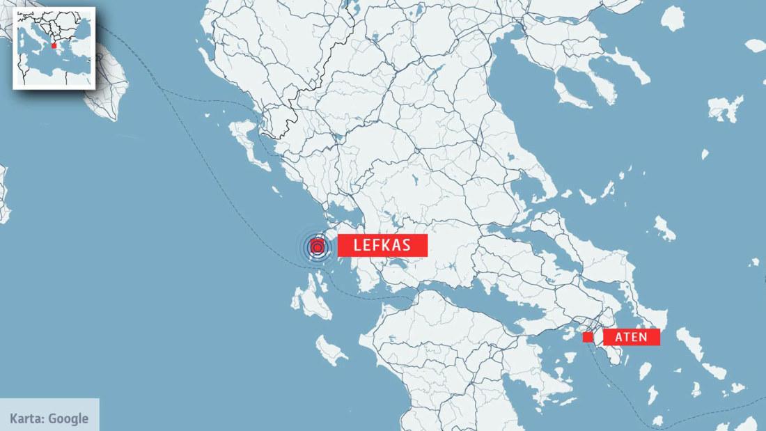 karta över grekland på svenska Jordbävning vid populär grekisk ö | Utrikes | svenska.yle.fi karta över grekland på svenska