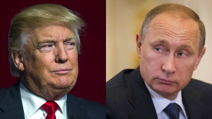 Donald Trump och Vladimir Putin.