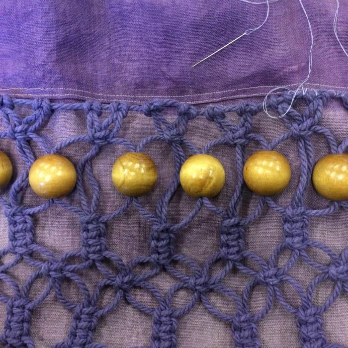 tree marbles in macrame pattern