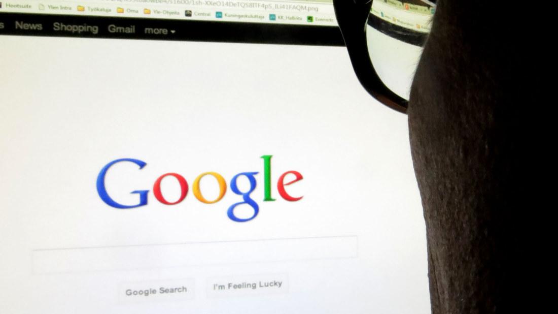 Google haku omalla nimellä