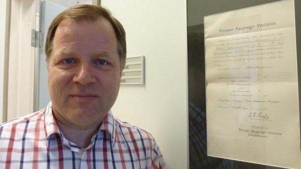 Risto Saarinen, vd på Borgå Vatten