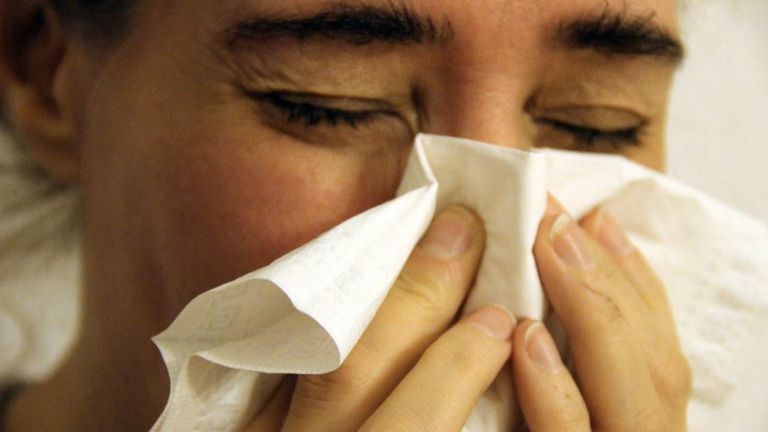 sår under näsan efter förkylning