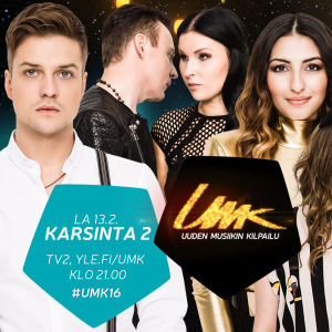 Uuden Musiikin Kilpailu 2016 Karsinta 2:n esiintyjät