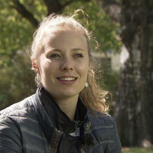 Badmintonspelaren Nanna Vainio i Sportmagasinet, maj 2016