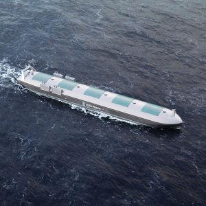 En digital modell för Rolls-Royce automatiserade fraktfartyg.