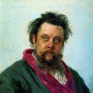 Ilja Repinin muotokuva säveltäjä Modest Musorgskista