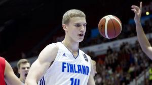 Lauri Markkanen har varit Finlands bästa spelare i U20-EM.