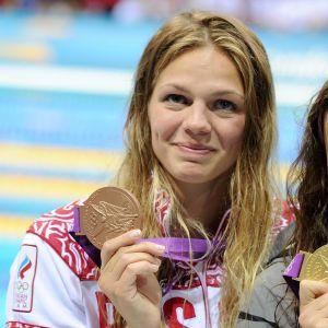 Julia Efimova förvarar inte sitt OS-brons.