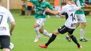 Lucas Kafmann i matchen mot Haka.