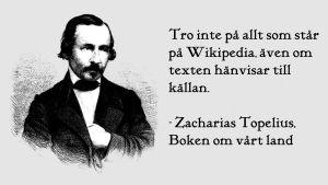 Illustration till text om Wikipedia - ANVÄND EJ I ANNAT SAMMANHANG
