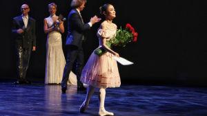 Helsingin kansainvälisen balettikilpailun 2016 Jane Erkko Grand Prixin voittaja korealainen Heesun Kim.