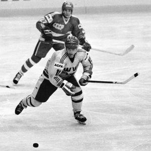 Håkan Loob hörde till de svenska spelarna som glänste i turneringen 1984.