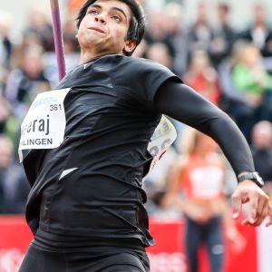 Neeraj Chopra kastade nytt världsrekord i för 20-åringar i Polen.