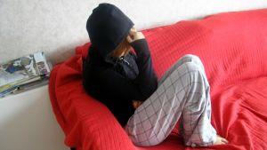 En deprimperad tonårsflicka