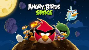 Poster för angry birds space