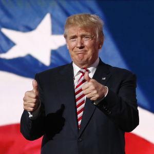 Donald Trump vid republikanernas partikonvent i Cleveland, Ohio den 20 juli 2016.