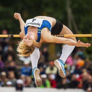 Linda Sandblom stod för finskt rekord i juni 2016.