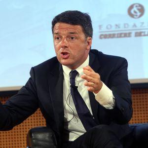 Italiens premiärminister intervjuas