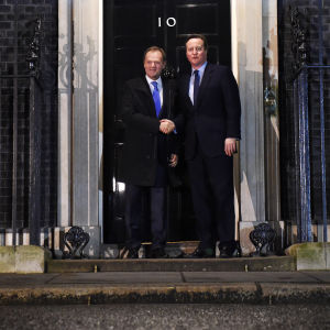 David Cameron och donald Tusk