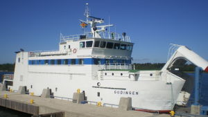 Den åländska landskapsfärjan M/S Gudingen.