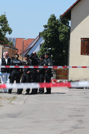 Skottlossning i Ansbach.